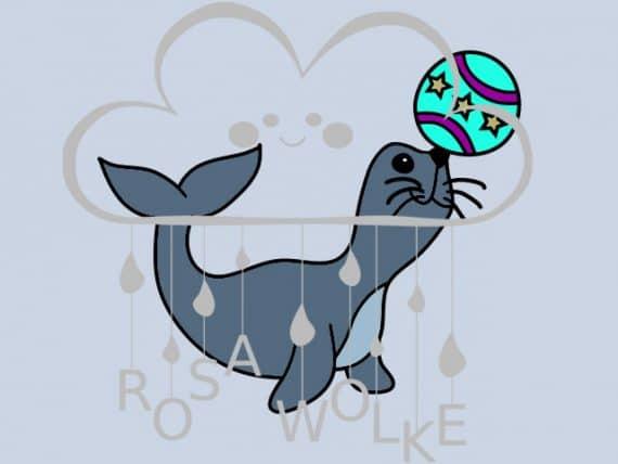 Zirkus-Plotterdatei-Seehund