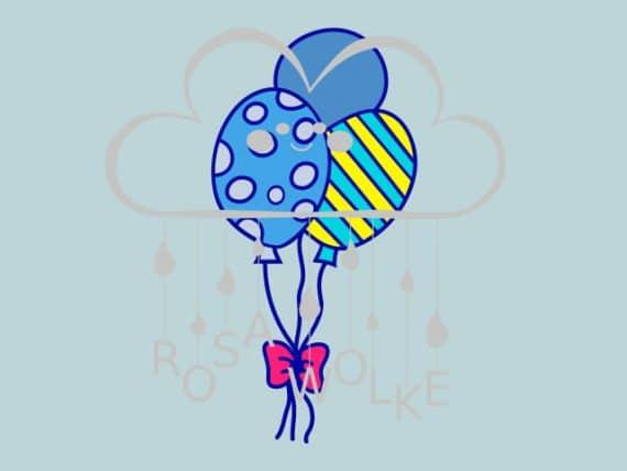 Zirkus-Plotterdatei-Luftballons