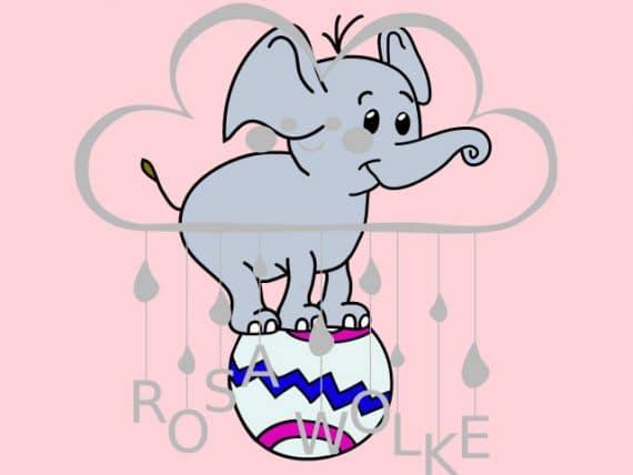 Zirkus-Plotterdatei-Elefant