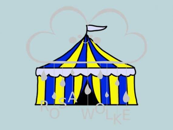 Zirkus-Plotterdatei-Zirkuszelt